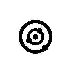2 つの同心円をドット、IOS 7 インタ フェース シンボル無料アイコン