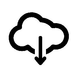 クラウドは、IOS 7 インタ フェース シンボル無料アイコンから矢印をダウンロードします。