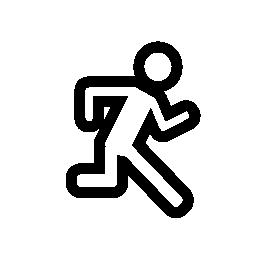 サイドビュー, IOS 7 インタ フェース シンボル無料アイコンから実行している男