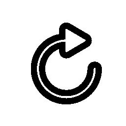 矢印、円形、更新内容、IOS 7 インタ フェース シンボル無料アイコン