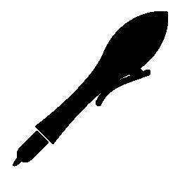黒い万年筆無料アイコン