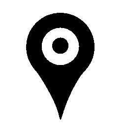 黒地図プレース ホルダー無料アイコン