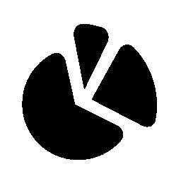 円グラフ パーティション無料アイコン