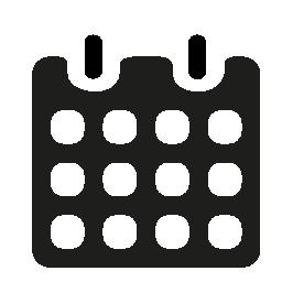 春の無料アイコンと黒い紙のカレンダー
