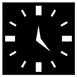 白と黒の正方形の時計詳細無料アイコン