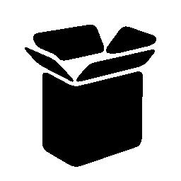 オープン ブラック貨物のボックスの無料のアイコン