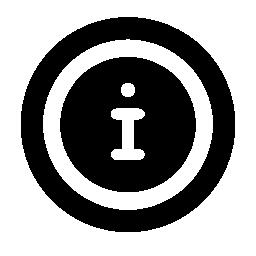 白い手紙私は円形の境界線無料アイコンとアイコン