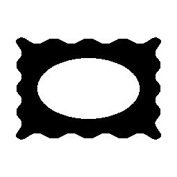 楕円形の穴無料アイコンの付いた長方形フレーム