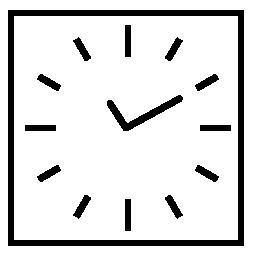 正方形の概要時計無料アイコン