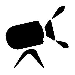ビデオ スポット ライト スタンド シルエット無料アイコン