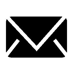 黒封筒シルエット無料アイコン