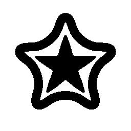 二重層状星無料アイコン