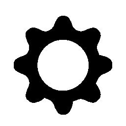 黒い歯車シャドウ無料アイコン