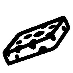 長方形のクリーニング スポンジ無料アイコン