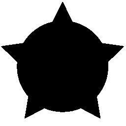 円形シールドの無料アイコン上の星のシェイプ