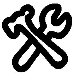 ハンマーとレンチの概要無料アイコン