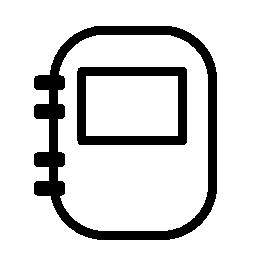 丸め長方形スパイラル バインダー ノート無料アイコン