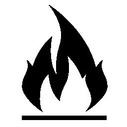 黒と白の炎記号無料アイコン