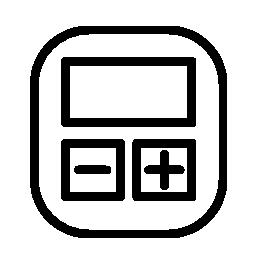 角丸正方形の計算デバイス無料アイコン