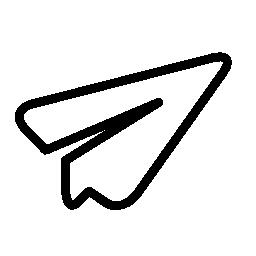黒のアウトライン無料アイコンとホワイト ペーパー平面