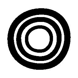 サークル無料アイコン内の円