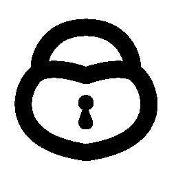 ハート形のロック無料アイコン