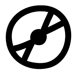黒のアウトラインを持つ白のコンパクト ディスクの落書き無料アイコン