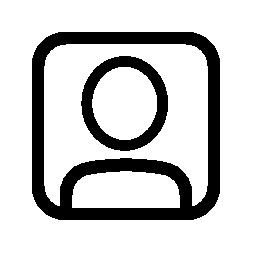 正方形のユーザー概要無料アイコン