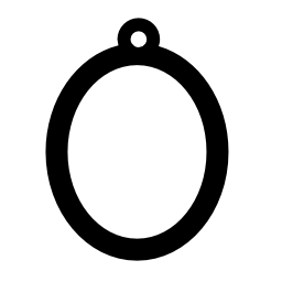 円形は小さなフック無料アイコンのオーバル フレーム