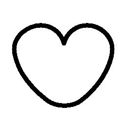 ハート形の落書き無料アイコン