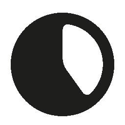 黒と白の時計の顔の無料アイコン