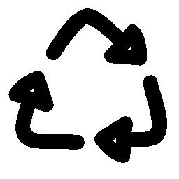 リサイクル記号落書き無料アイコン