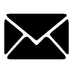 白いアウトライン無料アイコンと黒の封筒
