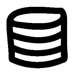 データベース総素朴なライン シンボル無料アイコン