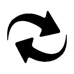 更新ボタン無料アイコンの矢印カップル