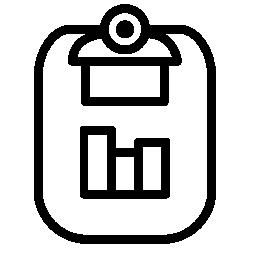 ビジネス グラフ無料のアイコンを使用してクリップボード