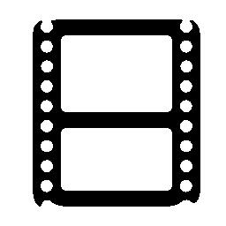 映画館のフィルム ストリップ 2 つフォトグラム無料アイコンとシンボル