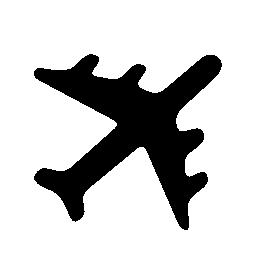 飛行機黒い図形回転ポインティング上正しい方向への無料のアイコン