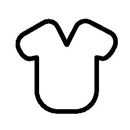 丸みを帯びた形状の無料アイコンの t シャツのデザイン アウトライン]
