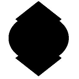 シールドは、バリアントの無料アイコンを黒い図形