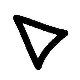 上部の左の無料アイコンを指す三角形不規則なアウトライン