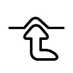 無料のアイコンを指している矢印のアウトライン