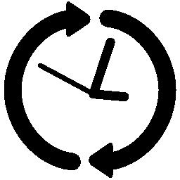 円形矢印無料アイコンをクロックします。