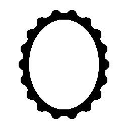 楕円形とビンテージ スタイル無料アイコンのフレーム