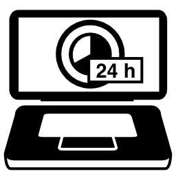 E コマース 24 時間利用可能なサービス無料アイコン