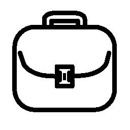 丸みを帯びた形状の無料アイコンのスーツケースの概要
