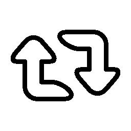 矢印カップル概要、更新インターフェイス ボタン無料アイコン