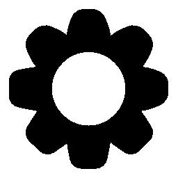 花黒い図形無料アイコン