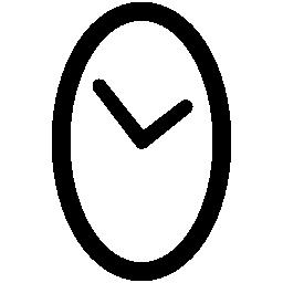 楕円形の無料アイコンの時計