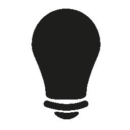 電球黒い図形無料アイコン